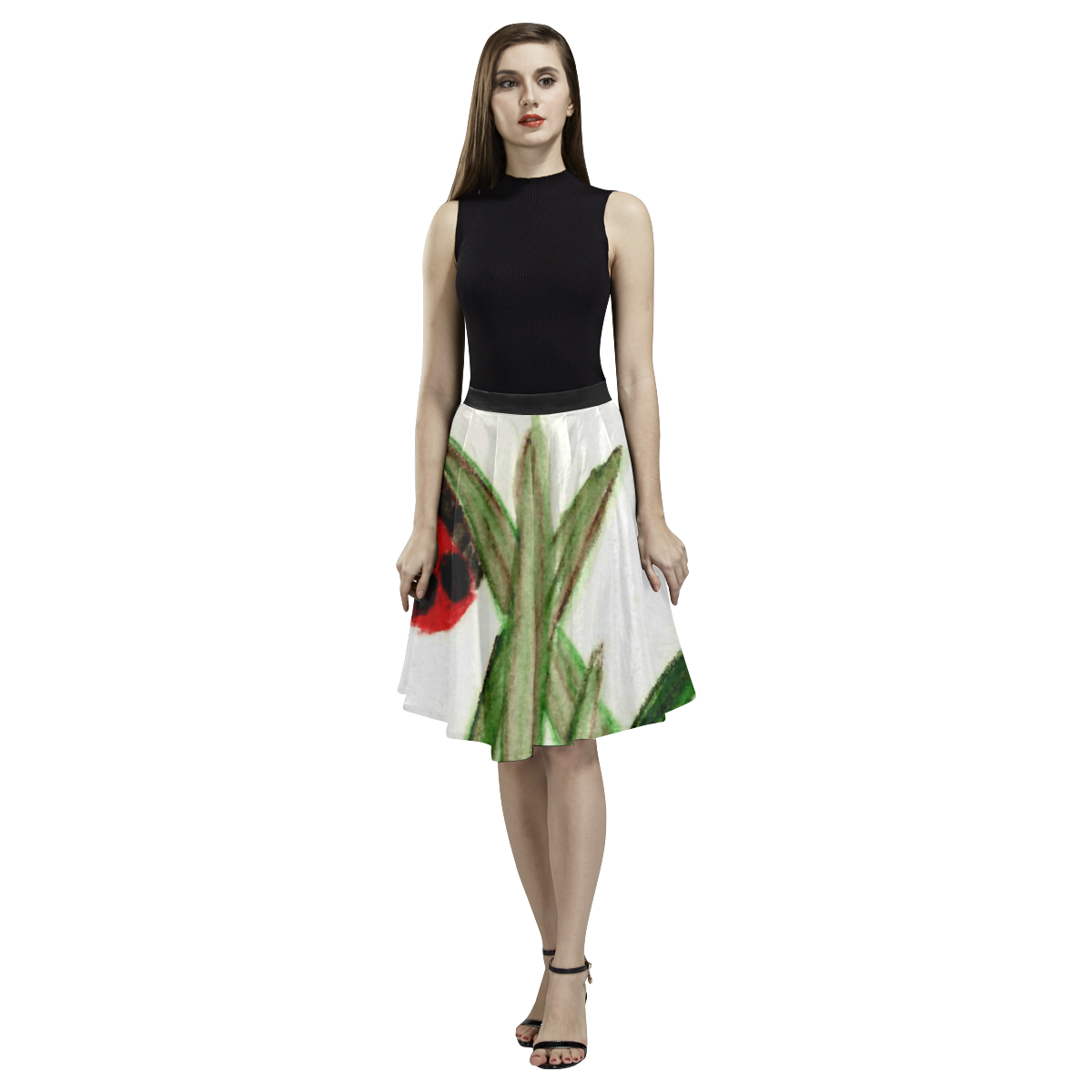 Ladybird Melete Pleated Midi Skirt (Model D15)