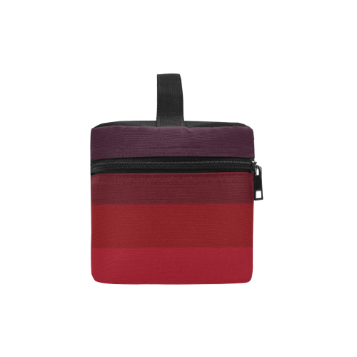 Burgundy Color Shades Cosmetic Bag/Large (Model 1658)