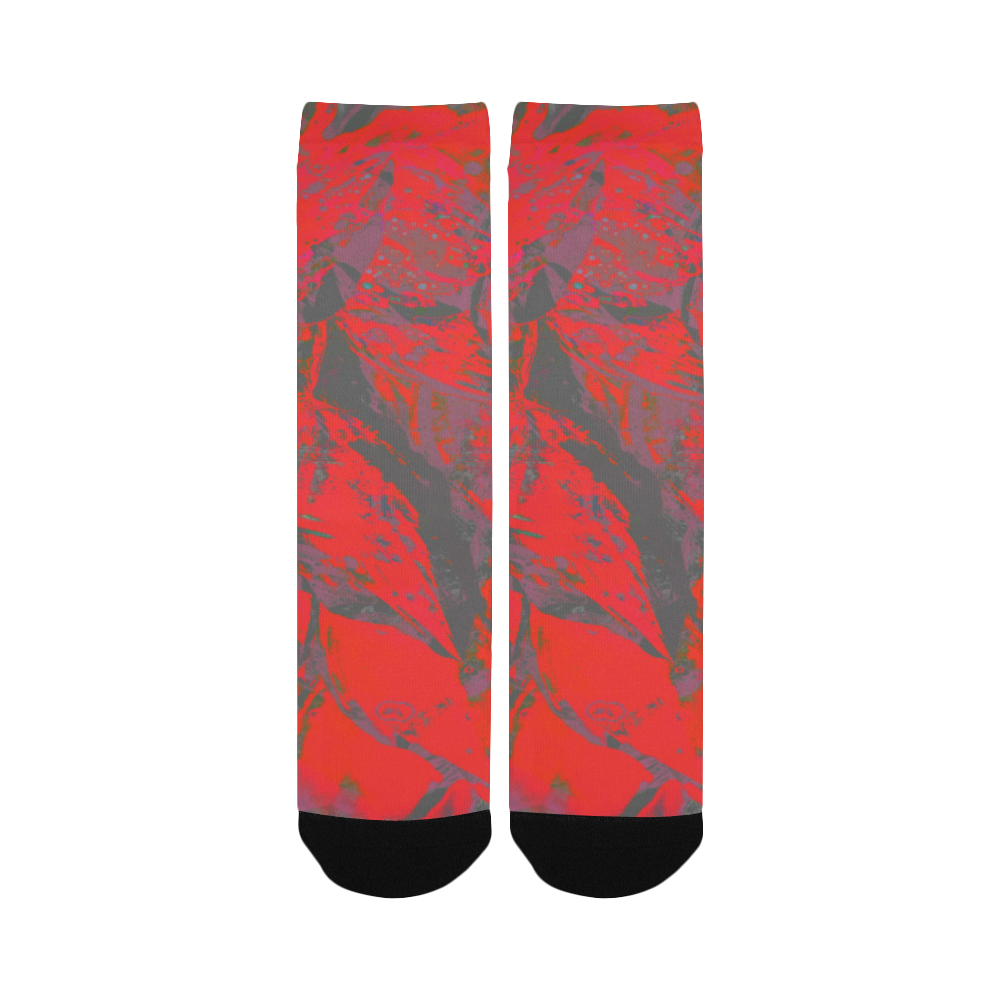 Juicy Maroon Wear Crew Unit Custom Socks for Women