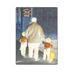 "Ghosts roaming the street Blanket 58""x80"""