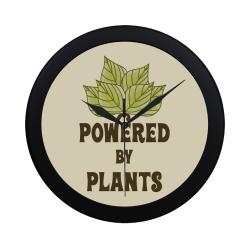 Powered by Plants (vegan) Circular Plastic Wall clock