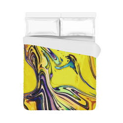 "Yellow marble Duvet Cover 86""x70"" ( All-over-print)"