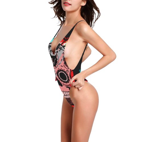 SKULL CULT SEXY III Sexy Low Back One-Piece Swimsuit (Model S09)