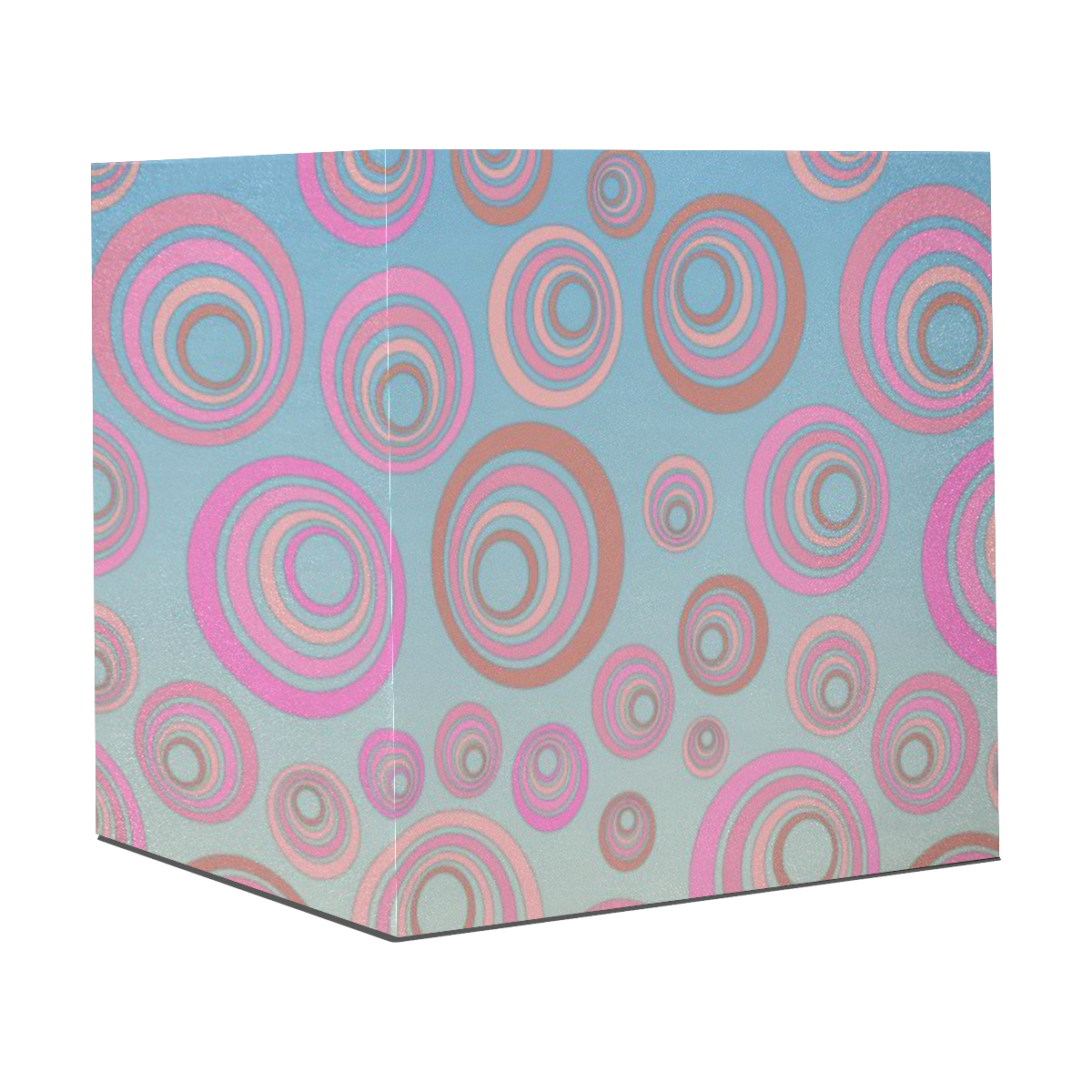 "Retro Psychedelic Pink on Blue Gift Wrapping Paper 58""x 23"" (1 Roll)"