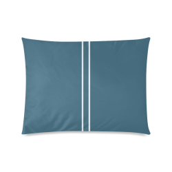 """Chinese Porcelain Blue Stripe Custom Zippered Pillow Case 20""""x26""""(Twin Sides)"""