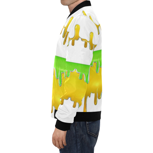 dripping paint in colors All Over Print Bomber Jacket for Men (Model H19)