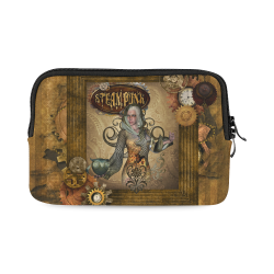 Steampunk lady with owl iPad mini
