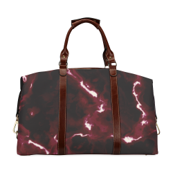 Red Marble - black white and red marble pattern Classic Travel Bag (Model 1643) Remake