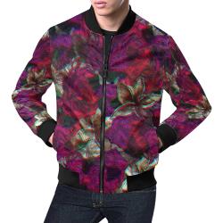 floral Rider All Over Print Bomber Jacket for Men (Model H19)