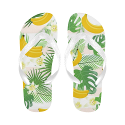 Bananas, Flowers and Leaves Flip Flops for Men/Women (Model 040)