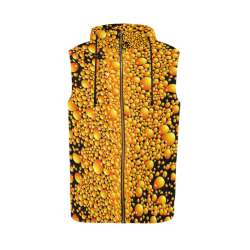 yellow bubble All Over Print Sleeveless Zip Up Hoodie for Men (Model H16)