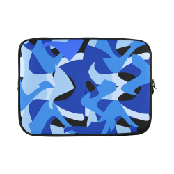 Camouflage Abstract Blue and Black Custom Laptop Sleeve 15''