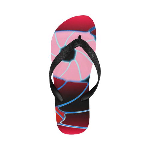 pink eyes Flip Flops for Men/Women (Model 040)