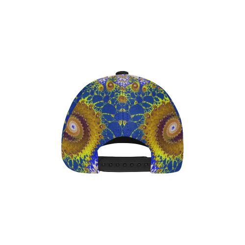 Lapis Glass Flower Spiral All Over Print Baseball Cap B