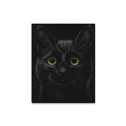 "Black Cat Canvas Print 16""x20"""