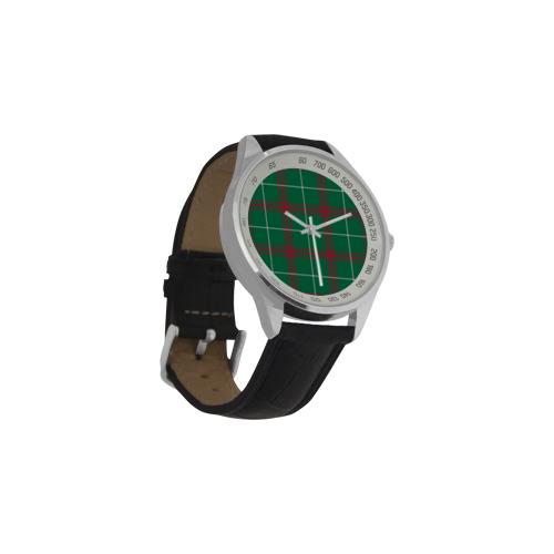 Welsh National Tartan Men's Leather Strap Analog Watch(Model 209)
