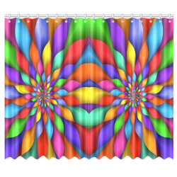 "RAINBOW SKITTLES Window Curtain 50""x84""(Two Piece)"