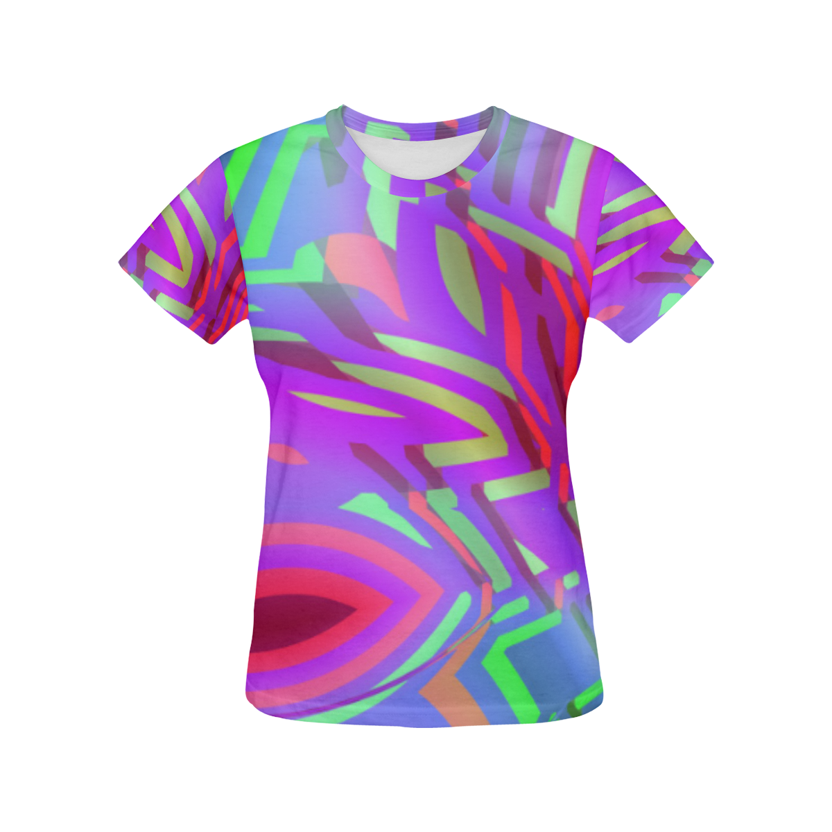 Colorful Tribal Pattern All Over Print T-Shirt for Women (USA Size) (Model T40)