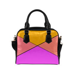 Orange Tangerine and Pink Shoulder Handbag (Model 1634)