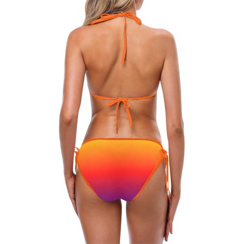 rainbow fade Custom Bikini Swimsuit (Model S01)