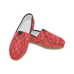 Bandana Squares Pattern Unisex Casual Shoes (Model 004)