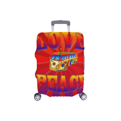 """Hippie Love and Peace Luggage Cover/Small 18""""-21"""""""