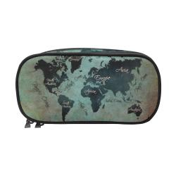 world map #map #worldmap Pencil Pouch/Large (Model 1680)