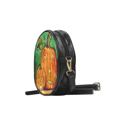 Jack-O'-Lantern Love Round Sling Bag (Model 1647)