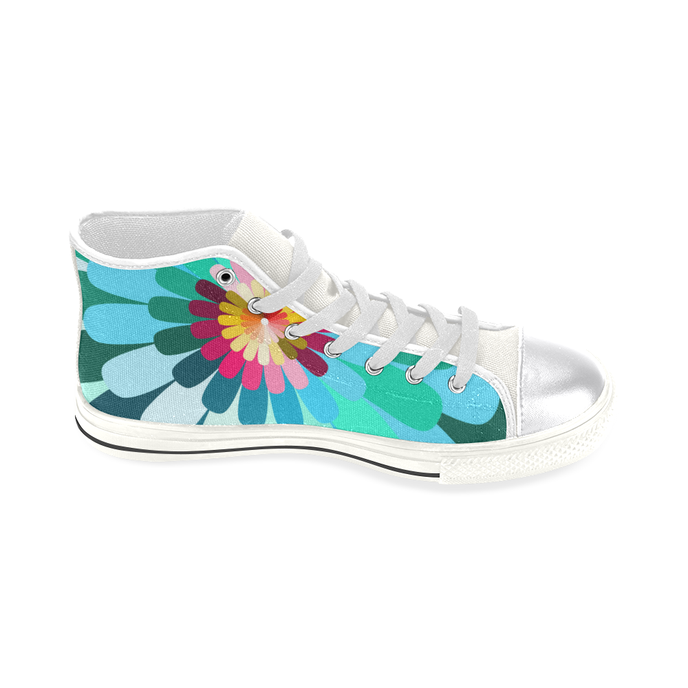 zappwaits v1 Women's Classic High Top Canvas Shoes (Model 017)