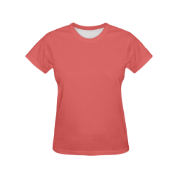 Valentine Red All Over Print T-Shirt for Women (USA Size) (Model T40)