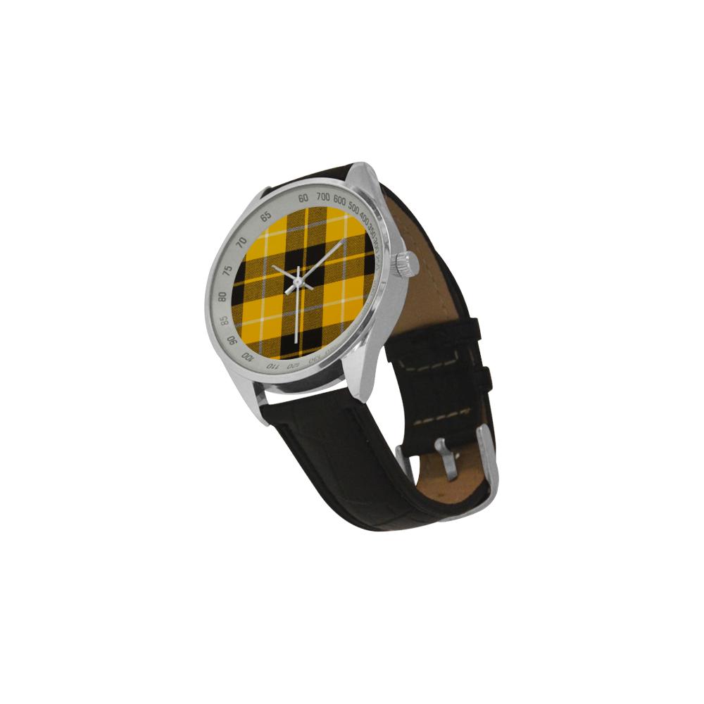 BARCLAY DRESS LIGHT MODERN TARTAN Men's Leather Strap Analog Watch(Model 209)