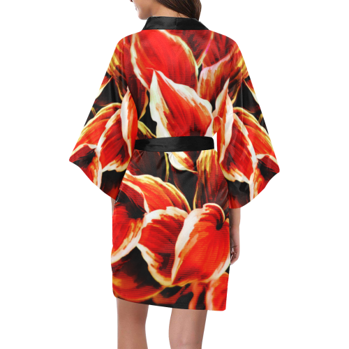 leafs_abstract TRY2 02 Kimono Robe