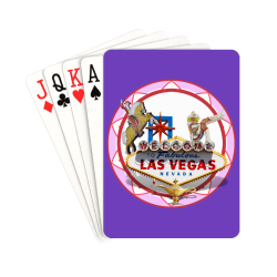 """LasVegasIcons Poker Chip - Pink on Purple Playing Cards 2.5""""x3.5"""""""