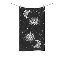 "Mystic  Moon and Sun Custom Towel 16""x28"""