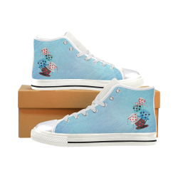 Teatime Alice Women's Classic High Top Canvas Shoes (Model 017)