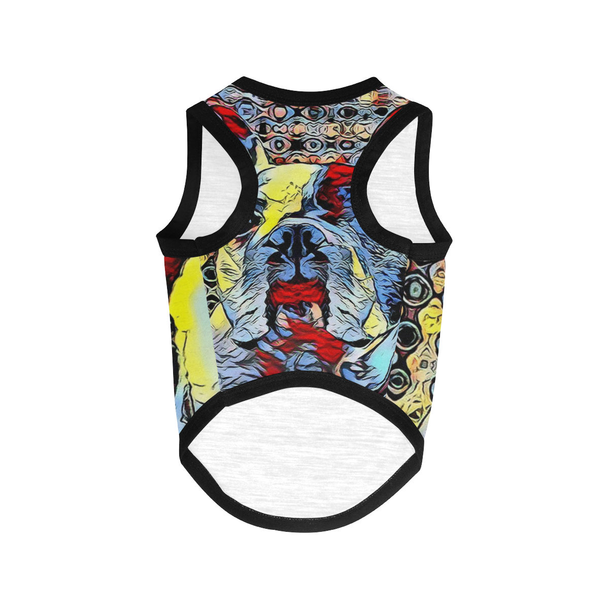 FRENCH BULLDOG ART COLORFUL All Over Print Pet Tank Top