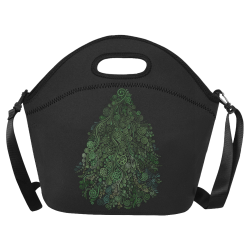 3D Psychedelic Abstract Fantasy Tree Greenery Neoprene Lunch Bag/Large (Model 1669)