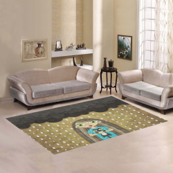 We Love Rain Area Rug7'x5'