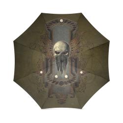 Awesome dark skull Foldable Umbrella (Model U01)