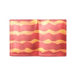 Bacon Men's Leather Wallet (Model 1612)