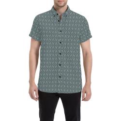 Model #33c| Men's All Over Print Short Sleeve Shirt (Model T53)