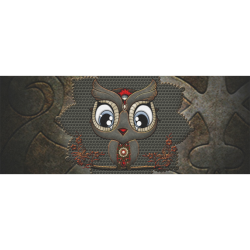 """Funny steampunk owl Gift Wrapping Paper 58""""x 23"""" (1 Roll)"""