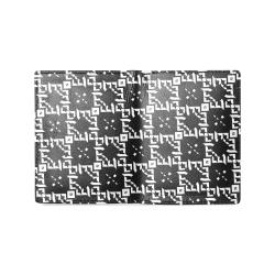 Bjorlie B Monogram Diamante Pattern (Black/White) Men's Leather Wallet (Model 1612)