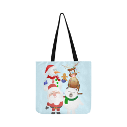 Christmas Gingerbread, Snowman, Santa Claus Reusable Shopping Bag Model 1660 (Two sides)