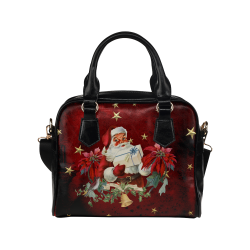 Santa Claus with gifts, vintage Shoulder Handbag (Model 1634)