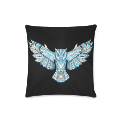 """Flying Colorful Owl Design Custom Zippered Pillow Case 16""""x16""""(Twin Sides)"""