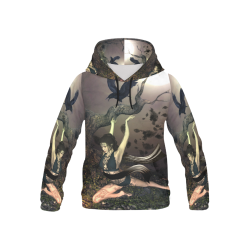 Beautiful fairy with crow All Over Print Hoodie for Kid (USA Size) (Model H13)