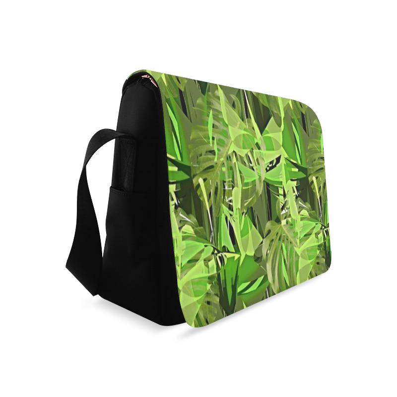 Tropical Jungle Leaves Camouflage Messenger Bag (Model 1628)