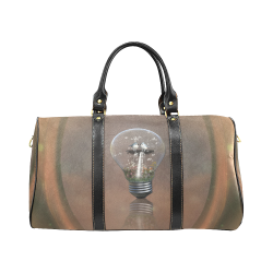 Light bulb with birds New Waterproof Travel Bag/Large (Model 1639)