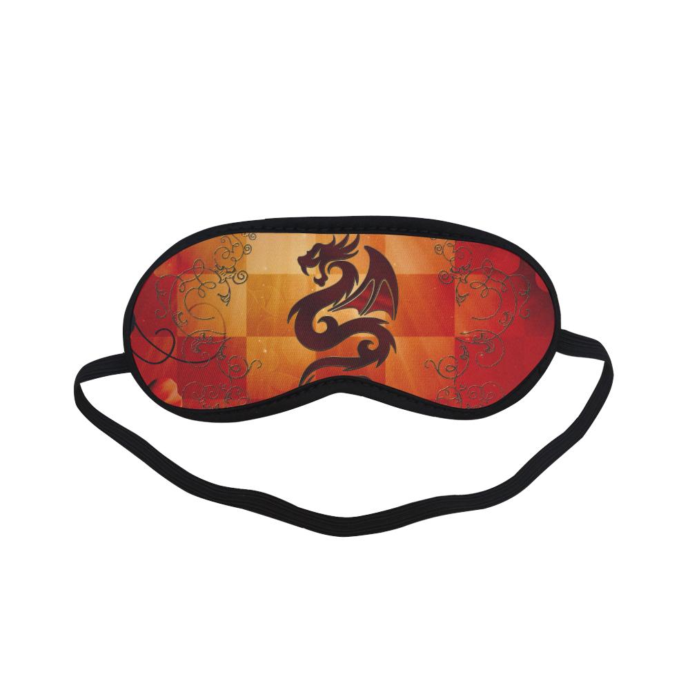 Tribal dragon  on vintage background Sleeping Mask